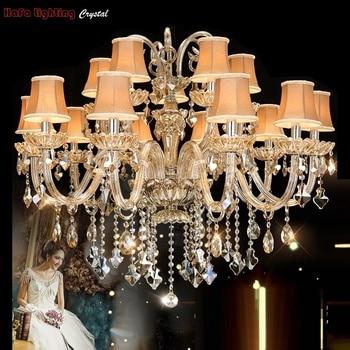 Modern crystal light Chandelier Lamp European-style Bedroom villa living room lights Chandelier lighting Crystals Indoor lights crystal chandelier living room lamp pastoral mediterranean bedroom restaurant candle chandelier blue european princess lamp