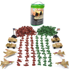 лучшая цена 210pcs/bag Military Action Toy Figure Military Fighter Cars Soldiers Weapons Model for Sandbox Figure Toys for Boys Gifts