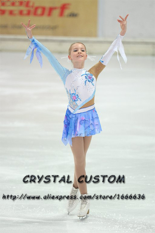Hot Sales Ice Figure Skating Dresses Fashion New Brand Competition Girls Figure Skating Dresses Crystal  DR3680
