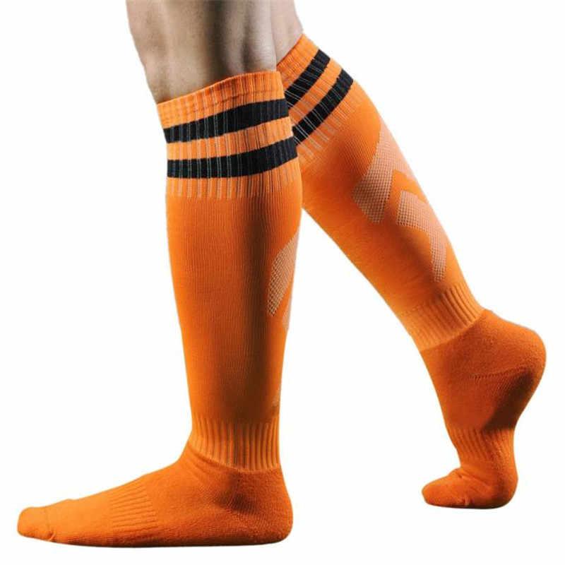 5a5893250 ... 1 Pair Boys Men Sport Sox Football Soccer Long Socks Striped Sock High  Sock Baseball Hockey ...