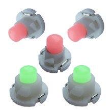 10PCS T3 T4.2 T4.7 LED COB 1SMD 12V Dashboard Winding Light Bulbs Warning Indicator Interior White Red Blue Green