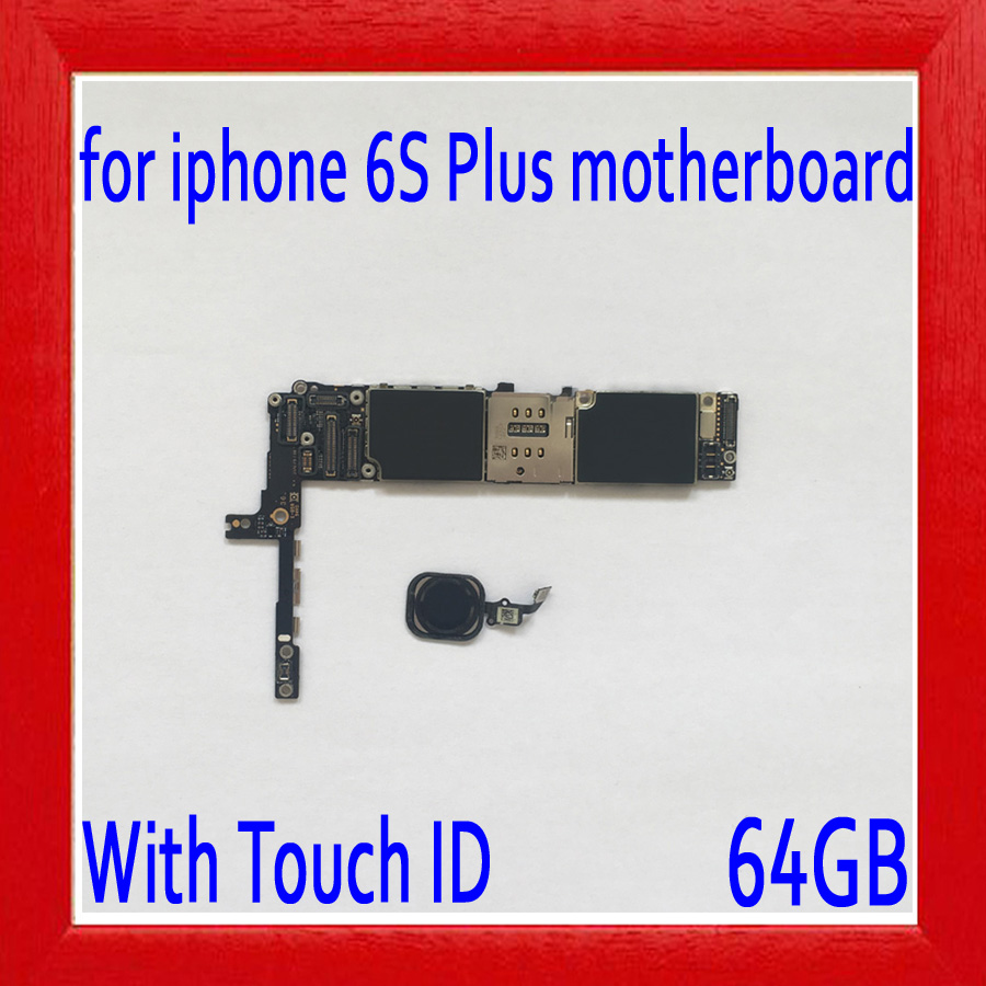 64gb Factory unlocked for iphone 6s plus Motherboard with Touch ID,Black Original for iphone 6s plus Logic board,Free Shipping64gb Factory unlocked for iphone 6s plus Motherboard with Touch ID,Black Original for iphone 6s plus Logic board,Free Shipping