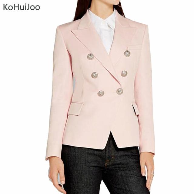 Di Delle Kohuijoo Rosa Designer Alta Autunno Donne Blazer Inverno q007AX