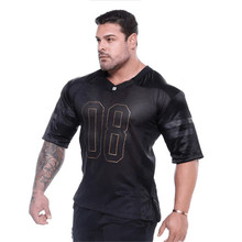 New Brand Clothing Gyms T-Shirt Mens Tshirts Fitness Bodybuilding Shirt Cotton Breathable Tees Tops Casual