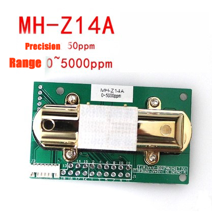 NDIR CO2 SENSOR MH-Z14A infrared carbon dioxide sensor module,serial port, PWM, analog output with cable MH-Z14 gas sensorNDIR CO2 SENSOR MH-Z14A infrared carbon dioxide sensor module,serial port, PWM, analog output with cable MH-Z14 gas sensor