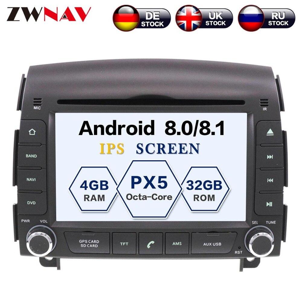 Android 8.0 8 Core 4 + 32 gb Tête Unité SatNav Navigation GPS Audio De Voiture Lecteur DVD Radio Pour HYUNDAI SONATA NF YU XIANG 2004-2008