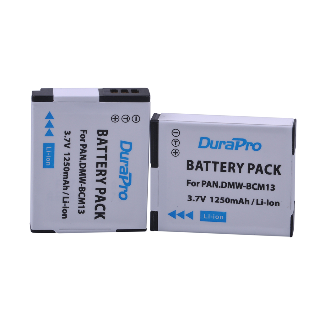 DuraPro 2pc DMW-BCM13E DMW-BCM13 BCM13 Battery for Panasonic Lumix DMC-TZ60 DMC-ZS27 DMC-ZS30 DMC-ZS35 DMC-ZS40 DMC-FT5 DMC-LZ40 faro dmc 420 white