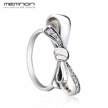 Memnon fine jewelry 2018 mothers day collection silver bow rings for women anillos 925 sterling ring RIP7232