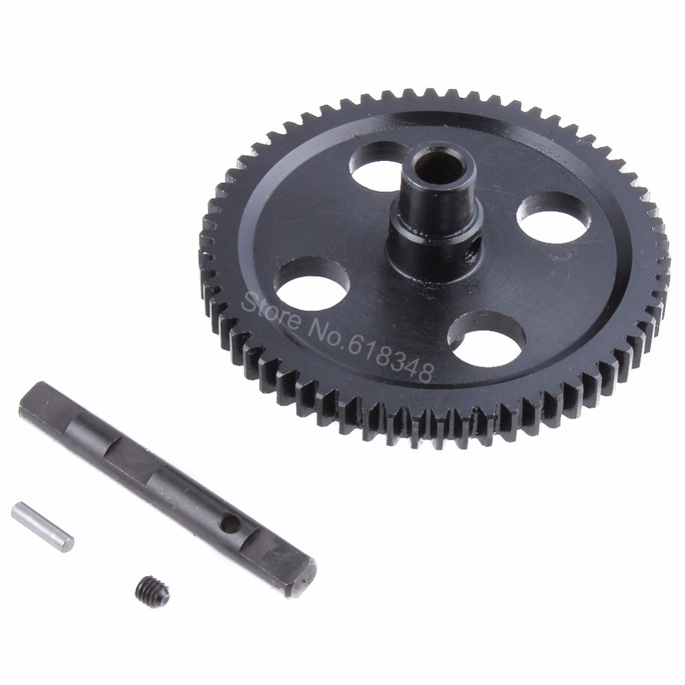 Metal Spur Diff Main Gear 62T Reduction Gear 0015 For WLtoys 12428 12423 1/12 RC Car Crawler Short Course Truck Upgrade Parts