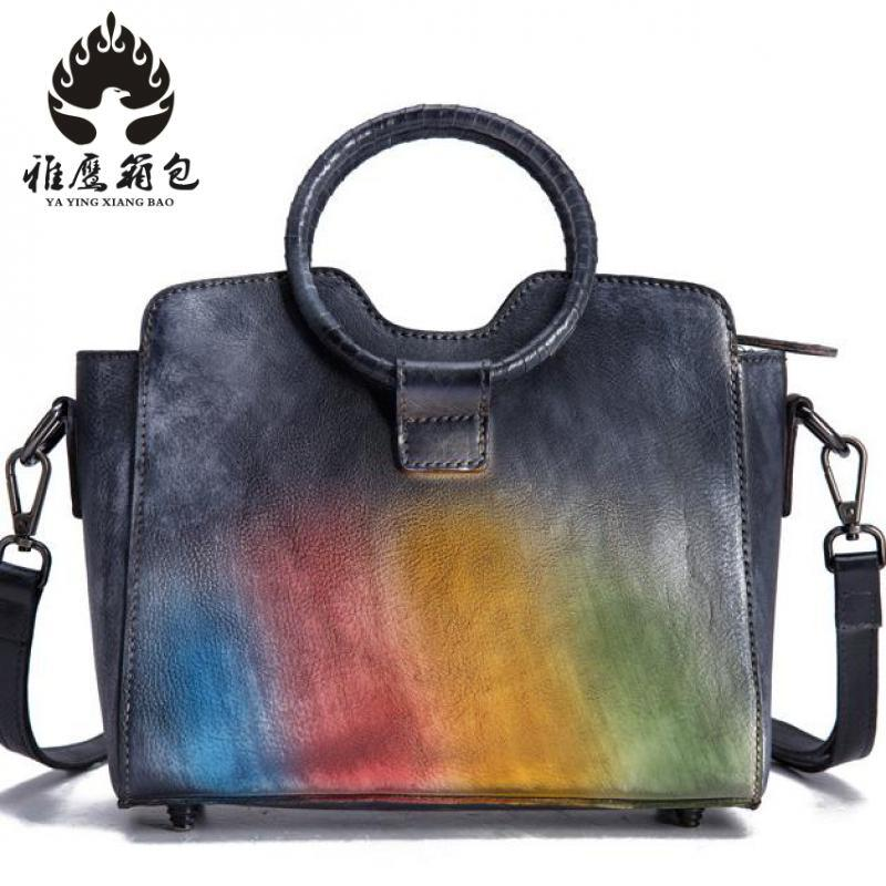 Brand Genuine Leather Women Handbag Cross Pattern Cow Leather Shoulder Bag Fashion Design Top Handle Women Bag esufeir brand genuine leather women handbag cross pattern cow leather shoulder bag fashion design top handle trapeze women bag