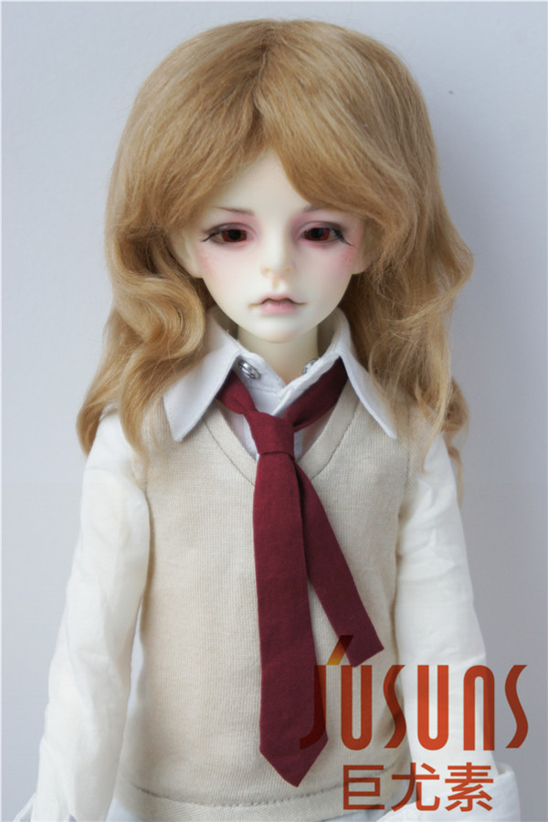 JD044 MSD BJD Mohair Doll Wigs 1/4 Mid long curly 7-8inch doll wig Magic mohair hair for Vinyl doll Porcelain doll hair 8 9 bjd wig silver knights of england volume mohair wig spot