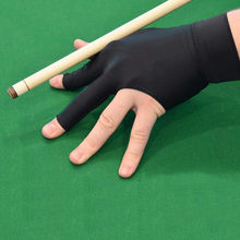 1pc Spandex Snooker Billiard Cue Glove Left Hand Open Three Finger Glove Men Women Snooker Balls Pool Fitness Accessories B1(China)