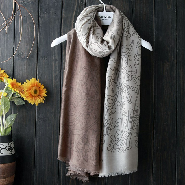 Gradient Lined Pattern Scarf   Shawls and Wraps   Up to 60% Off Now