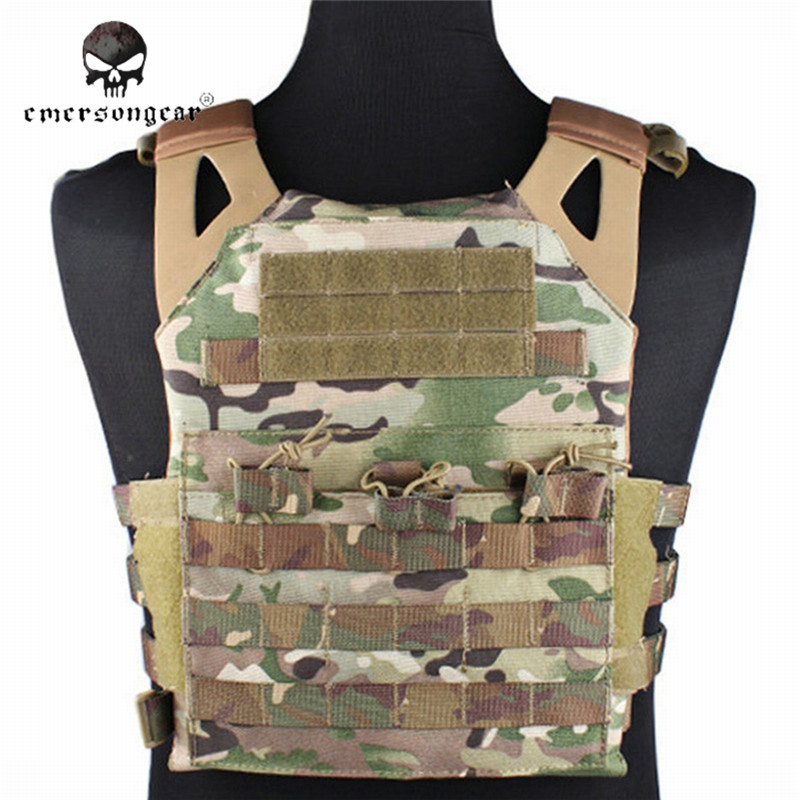 Tactical Jumper Carrier Vest 1000D Nylon EMERSON JPC Vest Simple Version Hunting Vest Airsoft Combat Gear EM7344 with Plate эргорюкзак boba carrier vail