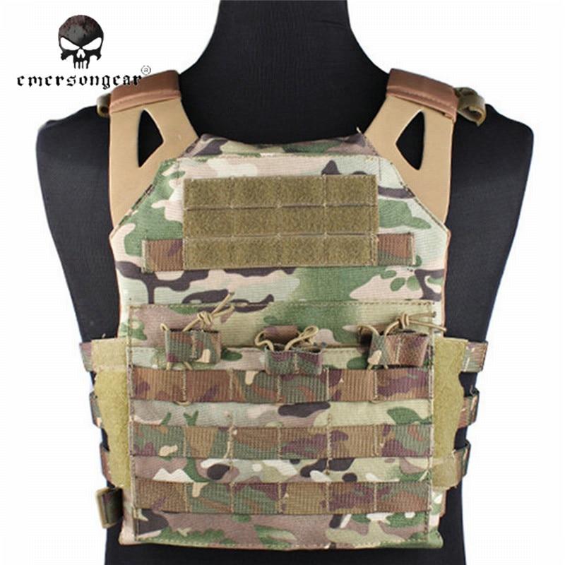 Tactical Jumper Carrier Vest 1000D Nylon EMERSON JPC Vest Simple Version Hunting Vest Airsoft Combat Gear EM7344 with Plate стоимость