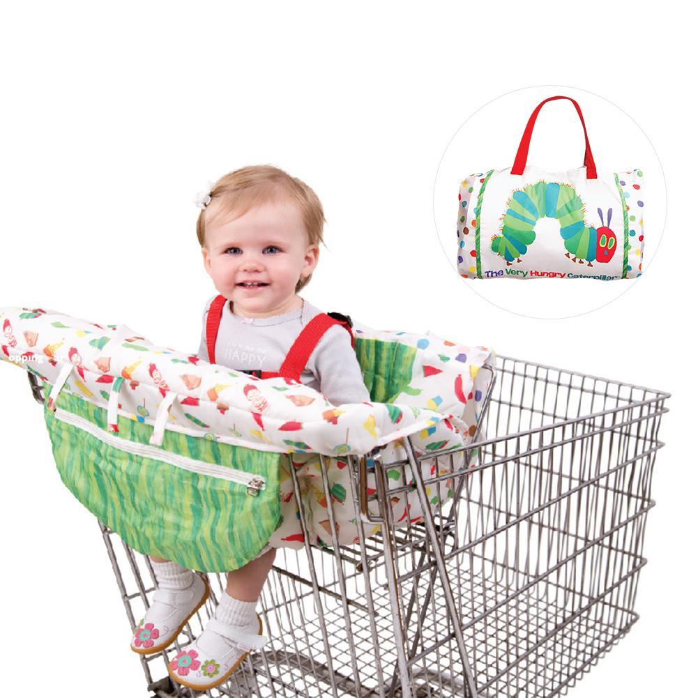 Kids Children'shopping Cart Trolley Cushion Cartoon Caterpillar Game Pad Dining Chair Soft Cushion Case Safe Portable Pad S3