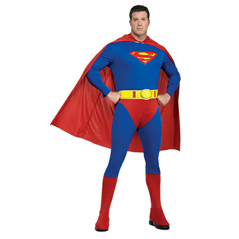 Carnival Party Halloween Costumes Family Superman Cosplay Muscle Super Man Superhero Costume Red Blue Full Body Zentai for Adult