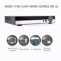 4CH 8CH Hybrid 1080N 5 In 1 AHD DVR 1080P NVR 1080N AHD 960H Analog TVI
