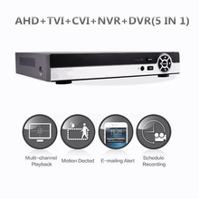 4CH/8CH Hybrid 1080N 5-in-1 AHD DVR (1080P NVR+1080N AHD+960H Analog+TVI+CVI) CCTV digital recorder HDMI Output Motion detection