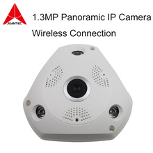 3D VR Camera 360 Degree Panoramic IP Camera 960P 1.3MP FIsheye WIreless Wi-fi Camera IP SD Card Slot Multi Viewing Mode