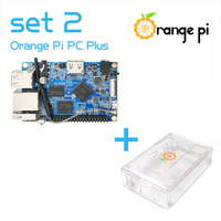 Orange Pi PC Plus SET2 Orange Pi PC Plus+ Transparent ABS Case Supported Android, Ubuntu, Debian