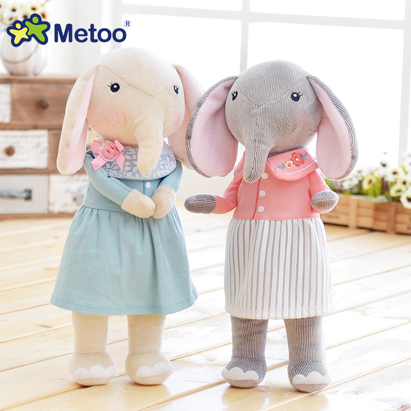 Metoo 30cm Kawaii Stuffed Baby Kids Toys for Girls Birthday Christmas Gift Plush Sweet Cute Lovely 12.5 Inch Elephant Doll boys fashion bjd dolls zipper bag backpack for 18 inch bjd doll accessories toys for girls christmas birthday gift for kids toys