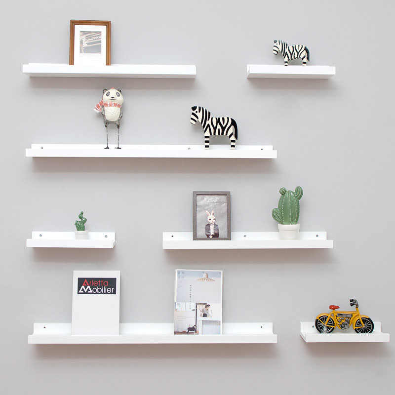 Wall Mounted Floating U Shelves Wood Wall Storage Shelves for Bedroom,  Living Room, Bathroom, Kitchen, Office Home Decorative