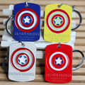 Best Selling Wholesale The Avengers Captain America Keychain Metal Key Holder Alloy Key Ring For Woeme&Men 4Colors Options