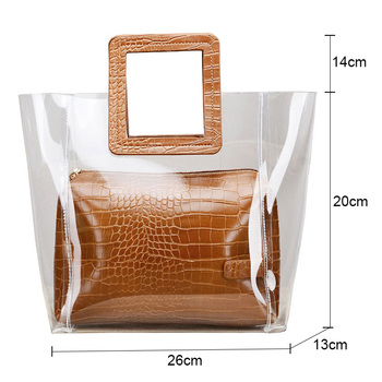Top-handle Bags For Women Large Clear Tote Bags for Women Luxury Handbags Women Bags Designer Transparent Composite Hand Bags