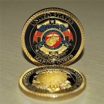 USMC coins souvenir, US Marine Corp Challenge coin Collectible Release the Dogs of War Semper Fidelis, Free shipping 30pcs/lot