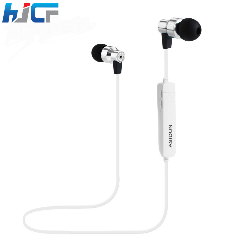 2017 New HJCF Bluetooth Metal Earphone Wireless Stereo Earphones With Mic Sport Running Apt-X HD Music For iphone Samsung S9 running bluetooth earphone hands free hbs 902 earphone sport wireless with mic for samsung iphone