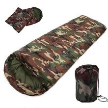 Yeni satış yüksek kalite pamuk kamp uyku tulumu, 15 ~ 5 derece, zarf tarzı, ordu veya askeri veya kamuflaj uyku tulumu
