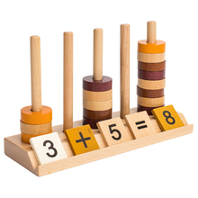 Children'S Wooden Toys Puzzle Early Childhood Children Digital Bead Taiwan Wooden Blocks Count Early Education Toys все цены