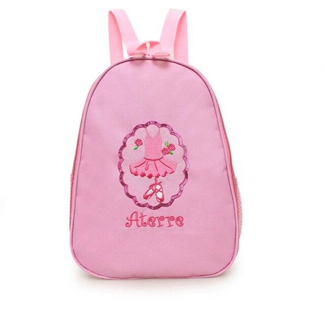 835407d5bb1e Девочки розовый балетная сумка-рюкзак Детская Балетная Обувь пайетками  вышивка танец сумки Детские Балетки подарок