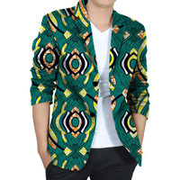 נאה גברים אפריקאי דאשיקי בלייזר הדפס אפריקאי אופנה מותאמת אישית חליפת בגדי חליפת המפלגה mens של אפריקה לחתונה