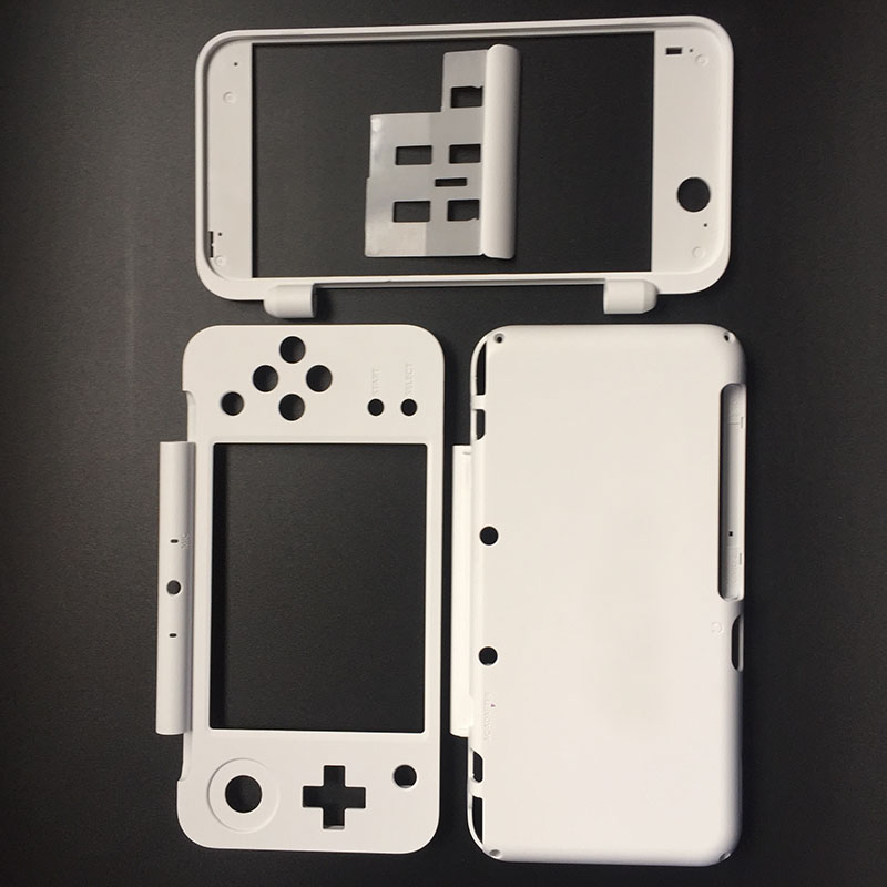 Bianco Custodia In Plastica Borsette Caso di Sostituzione Parte Piastra Set per il Nuovo Nintendo 2DS XL 2DS LL