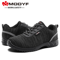 MODYF Men Composite Cap Toe Work Anti static Insole Safety Shoes Lightweight Breathable Reflective Non slip Casual Sneaker