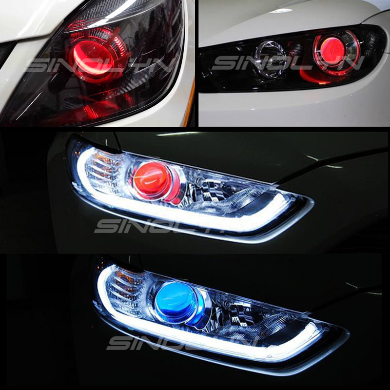 Car Styling LED Devil Eyes Demon Evil Eye DRL LED Module For Headlight Projector Lens Retrofit DIY Red Blue Yellow White Green