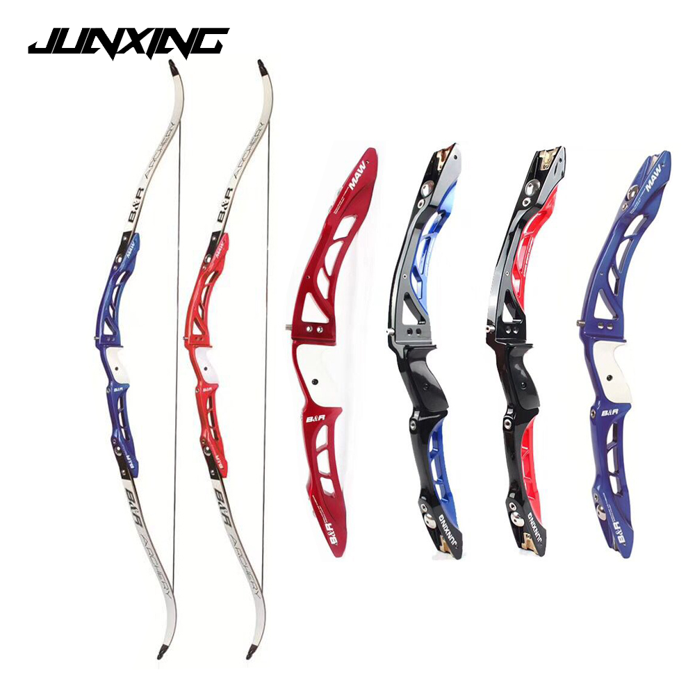 F165 4 Color Recurve Bow Length 68 Inches 18-32 Lbs Aluminum Alloy Handle and Maple Limbs for Archery Shooting
