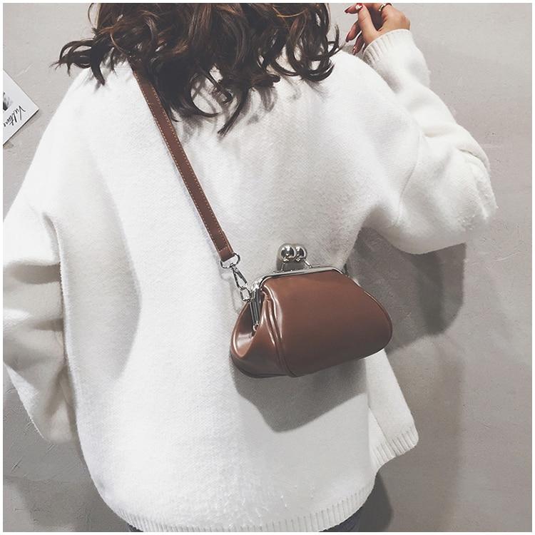 bags women leather shoulder crossbody bag women's handbag kiss lock bag (5)