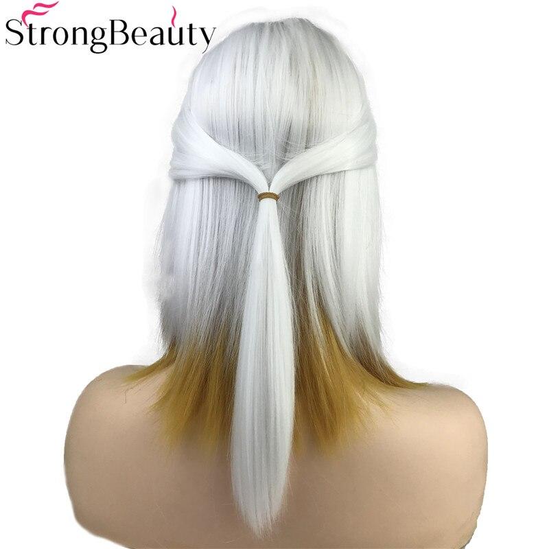 Forte beleza cosplay perucas de cabelo sintético