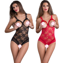 L XL XXL Mulheres Sexy Lingerie Tamanho Grande Quente Aberto Crotch Bra Erotic Lingerie Teddy Babydoll Lingerie Sexy Fantasias Sexuais Lenceria