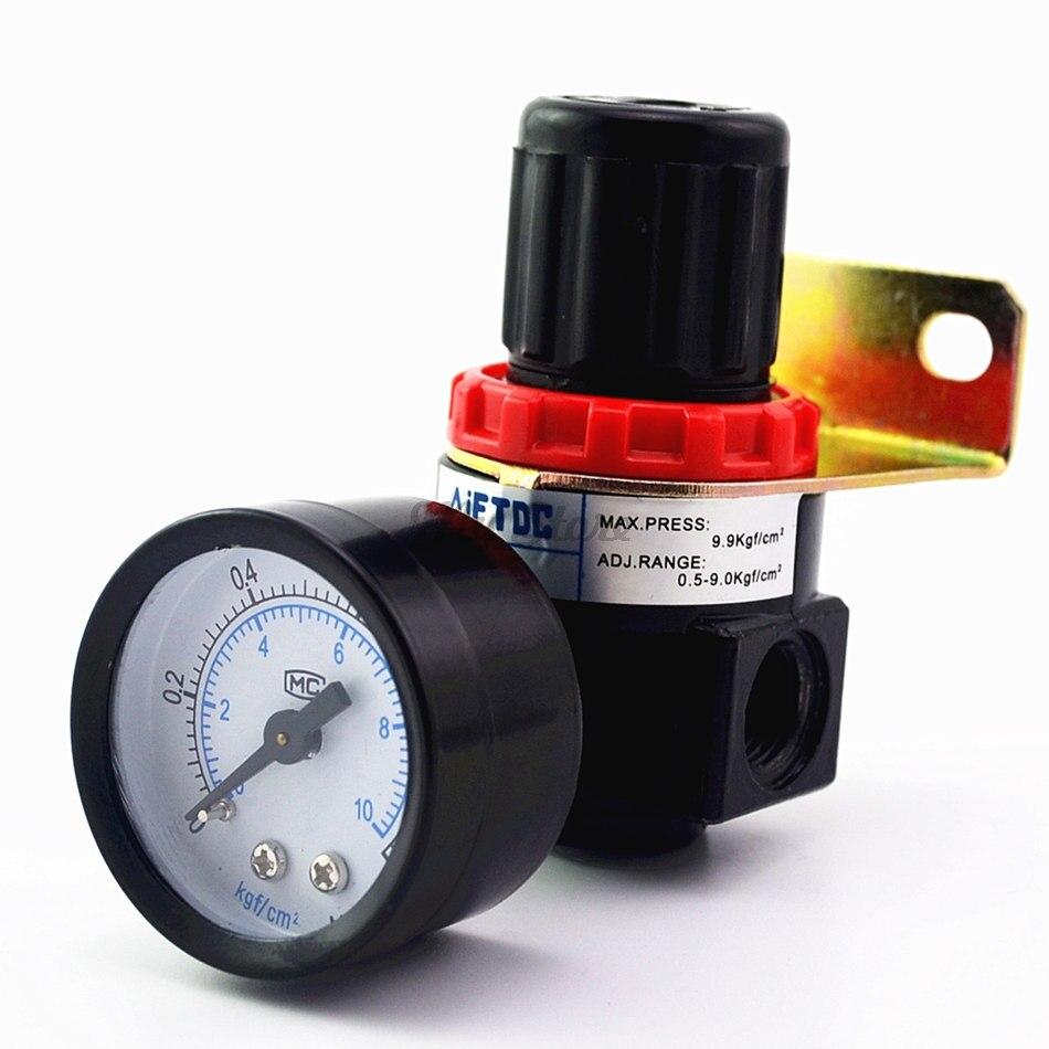AR2000 G1/4 Air Control Compressor Pressure Relief Regulator Valve with FittingAR2000 G1/4 Air Control Compressor Pressure Relief Regulator Valve with Fitting