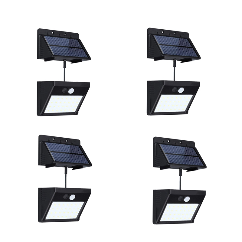 4 Pack Split Solar Lights Outdoor Waterproof Motion Sensor Wall Light 20 Led With Auto On/Off For Patio Deck Yard Garden|Solar Lamps| |  - title=