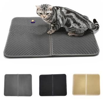 1pc Waterproof Double Layer Honeycomb Cat Litter Mat Pet Pad Kitten Cushion Rug
