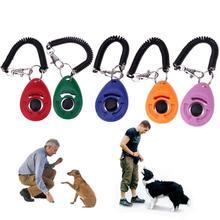 1 шт. дрессировка для собак, удерживающий лай кликер для собак, регулируемый звуковой брелок для ключей, ремешок на запястье для щенков, собак, кошек, домашних животных, тренировка клика для домашних животных