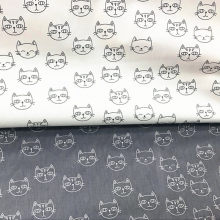 Cat Printed Baby Twill Cotton Quilting Fabric By Meter for DIY Sewing upholstery Scrapbooking Tissue Needlework Cloth(China)
