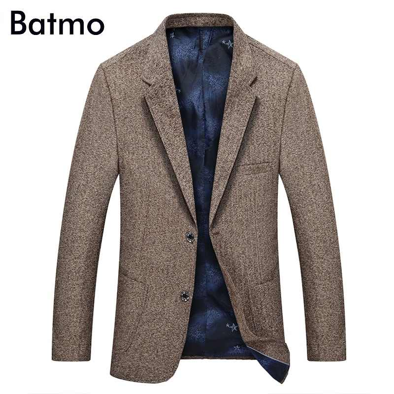 Batmo 2018 new arrival high quality gray casual suits men, casual men's blazer.size M to XXXL,1865