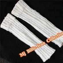 Classic MJ Billie Jean Collection Michael Jackson Performance Handmade Austria Crystal Beads Socks Leg Warmers Men Foot Cover