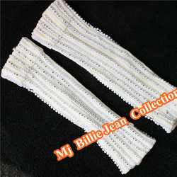 Classic MJ Billie Jean Collection Michael Jackson Performance Handmade Austria Crystal Beads Socks Leg Warmers Men Foot Cover